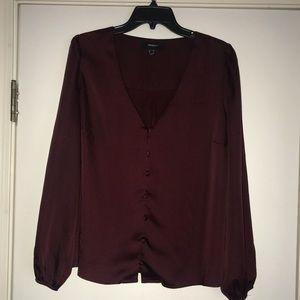 Worn once Forever 21 satin v-neck blouse!